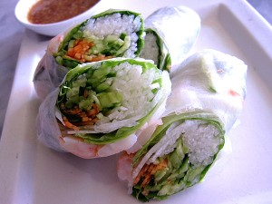 90210pho fresh roll with shrimp