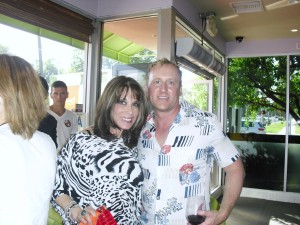 Anthony Turk and Kate Linder at 90210pho restaurant event