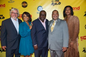 Cedric the Entertainer with Niecy Nash and TV Land executives